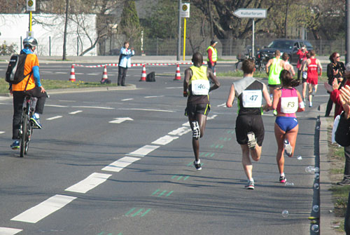 Sbrina Mockenhaupt beim Berliner Halbmarathon 2014