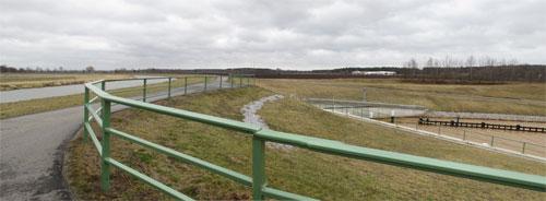 Wasserkreuzung Koschener Kanal und Schwarze Elster