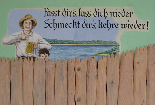 Wandgemälde am Biergarten