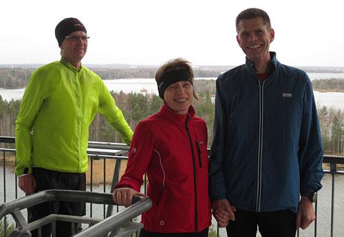 Läufer-Gruppenbild auf dem Schiefen Turm