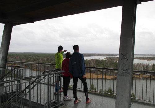 Läufer-Ausblick von ganz oben