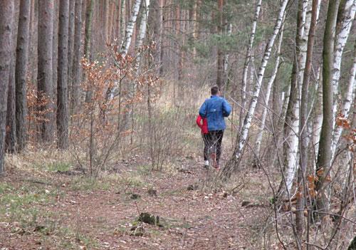 Kurzer Abschnitt Trailrunning
