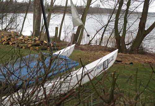 Katamaran Hoppetosse 2 am Senftenberger See