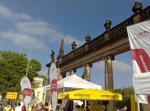 Startareal beim Potsdamer Drittelmarathon 2014