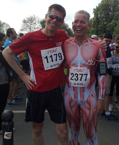 Läufer mit Muskelanzug