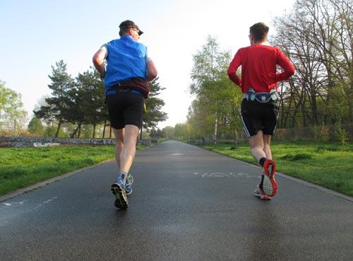 Läufer im Hans-Baluschek-Park