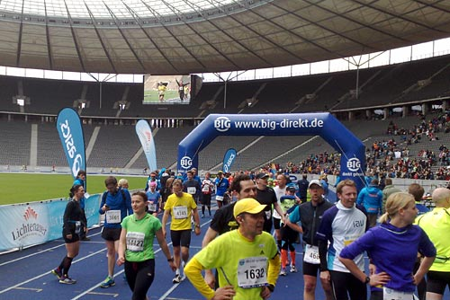 Zielbereich des Big25 im Berliner Olympiastadion
