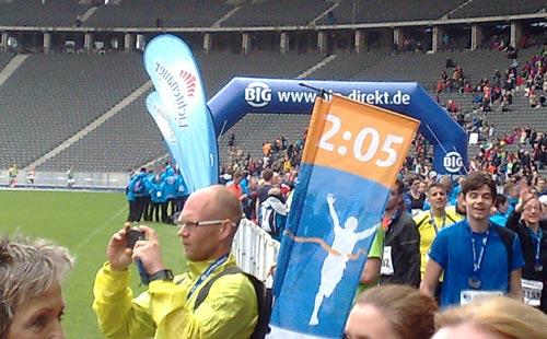 Pacemaker-Läufer für die 2:05h im Ziel des Big25