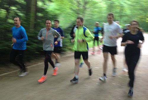 Laufgruppe mit Marathon-Europameister Röthlin