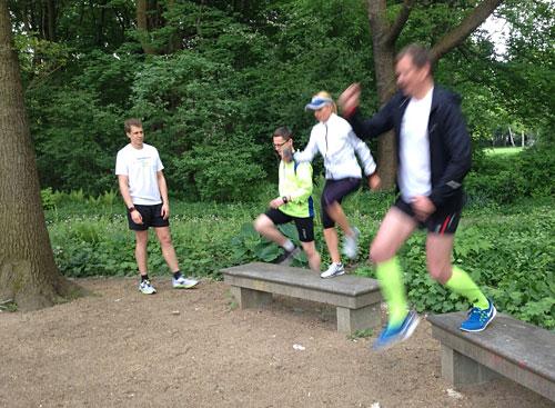 Sprungübungen für Läufer