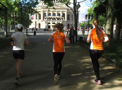 Läufer an der Frankfurter Oper