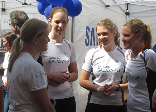 Läuferinnen des Samsung Running Teams