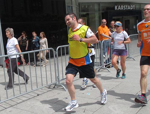 Läuferin des Samsung-Teams