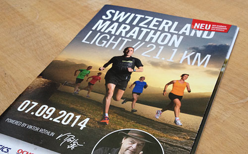 Programmheft für Viktor Röthlins Switzerland Marathon Light