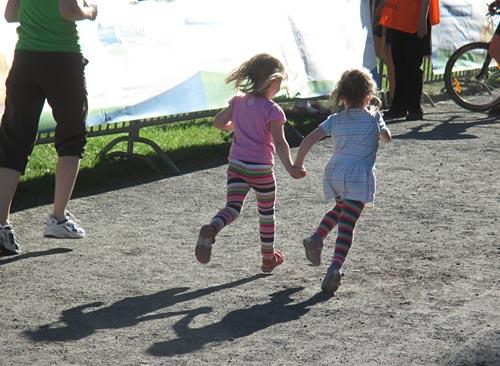 Bambini-Lauf vor der Team-Staffel