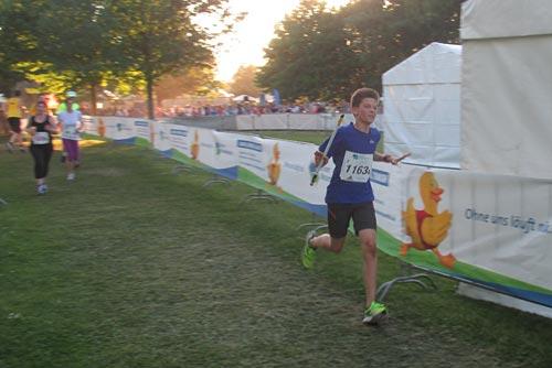 Unser vierter Team-Läufer kurz vor dem letzten Wechsel