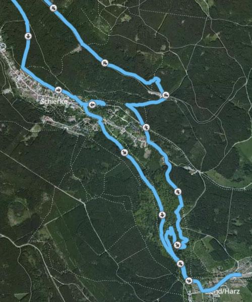 Laufstrecke auf den Brocken, südlicher Teil