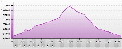 Höhenprofil Lauf auf den Brocken im Harz