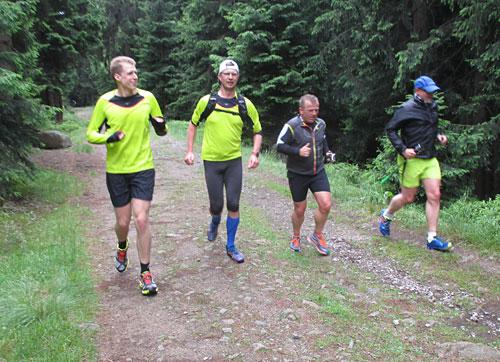 Die Laufgruppe für den kurzen Lauf zum Brocken