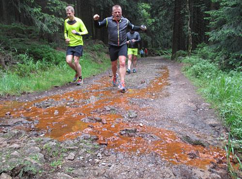 Gute Stimmung bei den Läufern