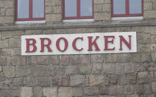 Schild: Brocken