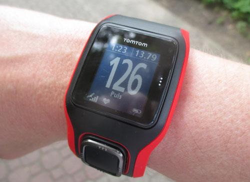 GPS-Laufuhr Tomtom Runner Cardio im Einsatz