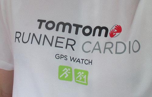 Laufshirt mit Aufdruck TomTom Runner Cardio