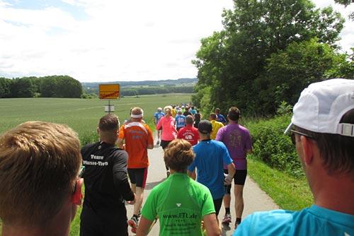 Auf dem ersten Kilometer