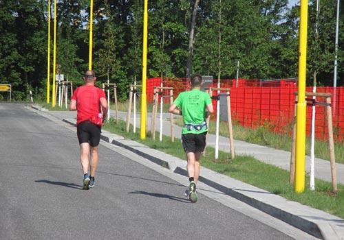 Läufer im Gewerbegebiet Am Lilograben