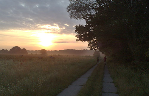 Intervalltraining bei Sonnenaufgang