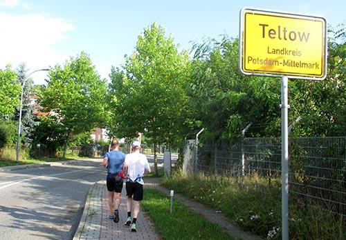 Wegänderung in Teltow