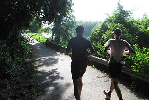 Läufer am Teltowkanal bei Kleinmachnow