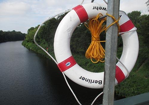 Rettungsring am Teltowkanal
