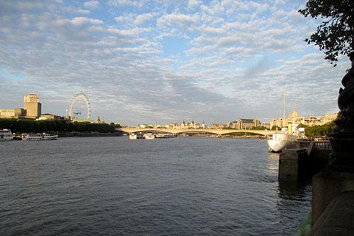 Läufer-Blick auf die Themse