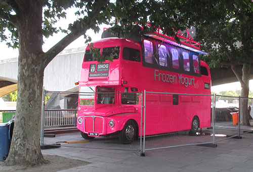 London Bus in Pink