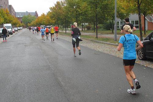 Halbmarathon-Läufer in Tegel