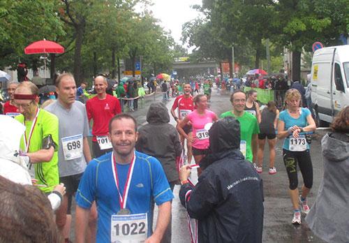 Zieleinlauf Halbmarathon Tegel