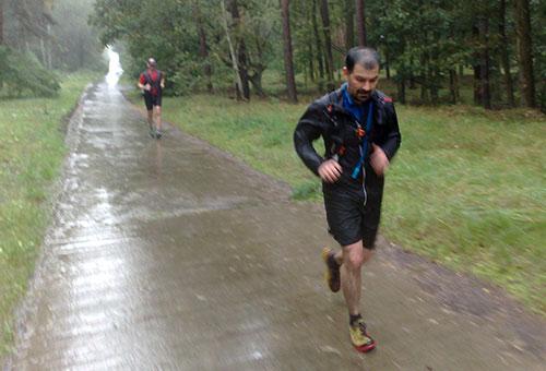 Nach 20 Kilometern durch den strömenden Regen