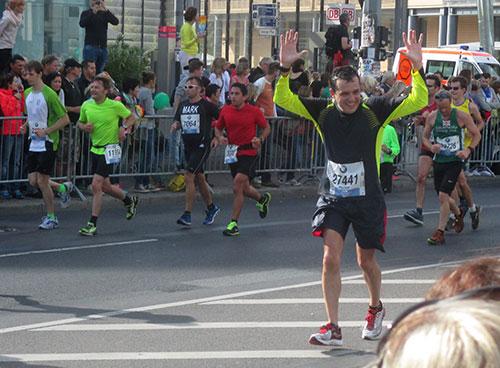 Marathon-Läufer am Potsdamer Platz
