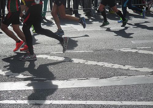 Marathon-Läufer-Beine
