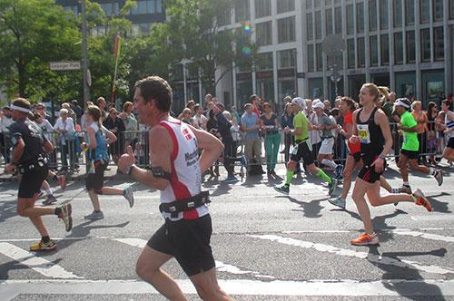 Marathon-Läufer am Leipziger Platz