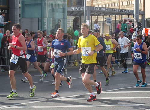 Berlin-Marathon 2014: Läufer bei Kilometer 38,5