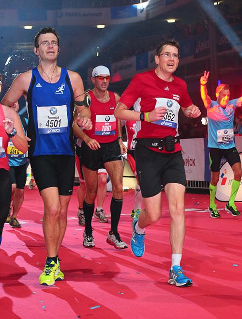 Zieleinlauf beim Frankfurt-Marathon 2014