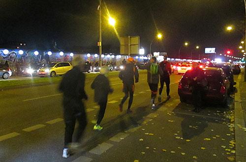 Läufer auf der Mühlenstraße