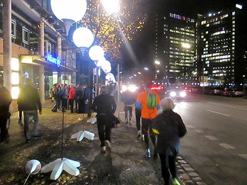Läufer auf der Zimmerstraße