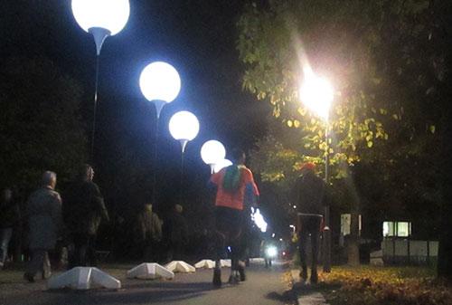 Laufen an der Lichtgrenze kurz vor der Boyenstraße