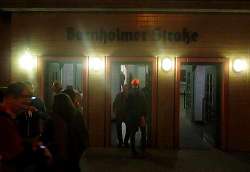 Eingang zur s-Bahn-Station Bornholmer Straße