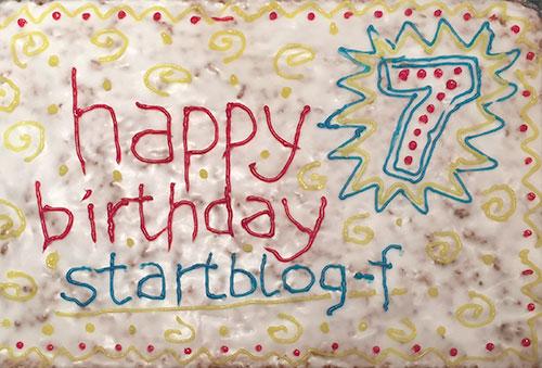 Geburtstagskuchen zum 7. Geburtstag von startblog-f