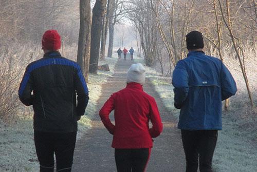 Läufer der Trainingsgruppe 1 und 2