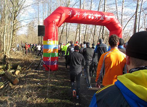 Start- und Zieltor Frostwiesenlauf 2015